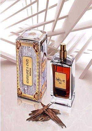 Khashab & Oud White - Eau De Parfum Amber & Cedarwood Fragrance Perfumes for Men & Women 100ml