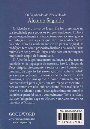 Alcorão Sagrado (Quran in Portuguese-Pocket)