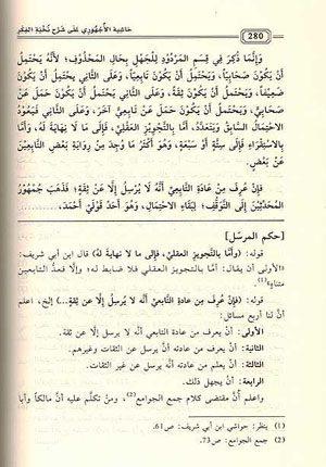 Hashiyat Ajhuri ala Sharh Nuhkbat al-Fikar.
